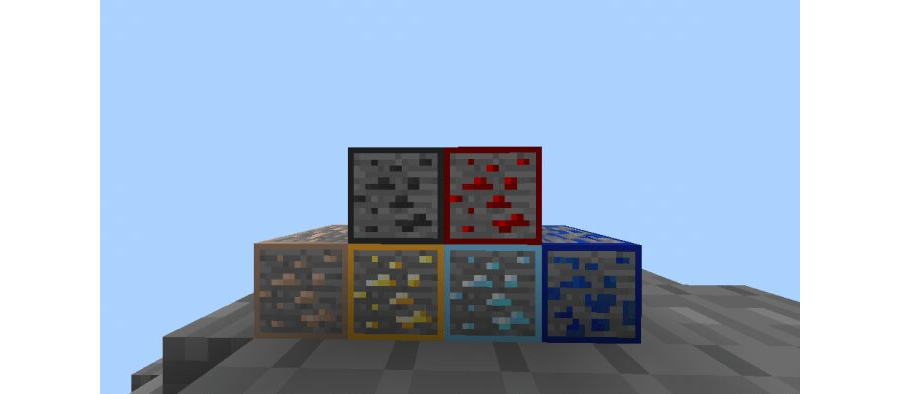 Animated Outlined Ores