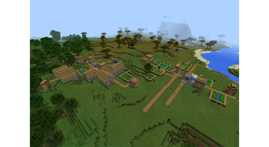 Double Village At Spawn