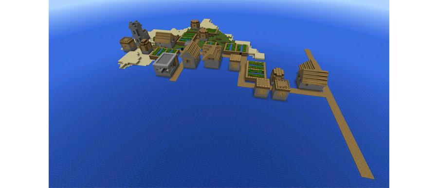 Island Village With Blacksmith