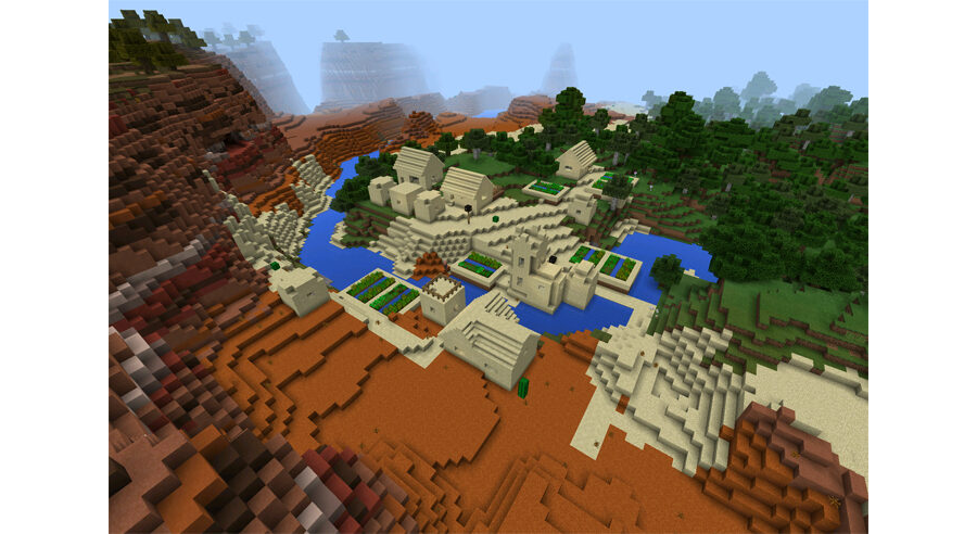 Sand Village in Three Different Biomes